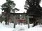 雪舞う岩木山神社