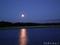 下北半島の夜明け前(皆既月食の欠け始め)